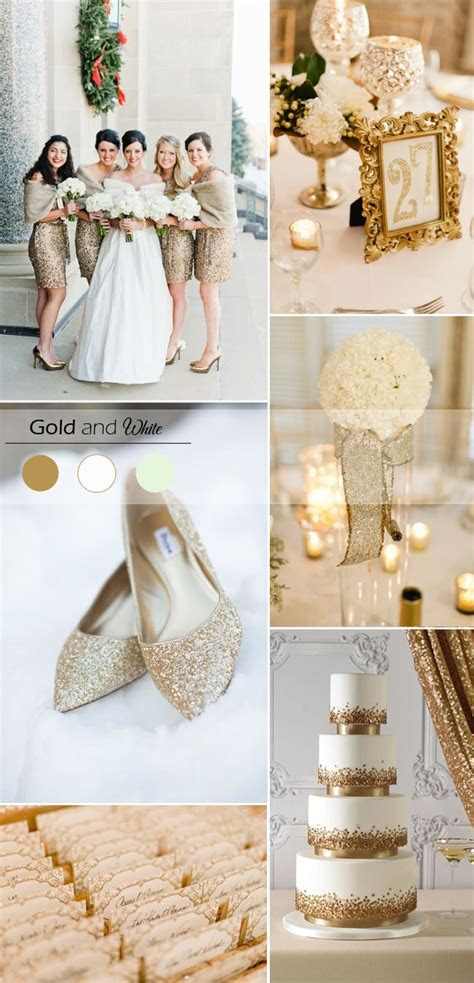 gold ivory and white wedding color inspiration for winter