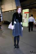 Tokyo Girl's Dot Skirt, Corset Belt & Heart Platform Heels