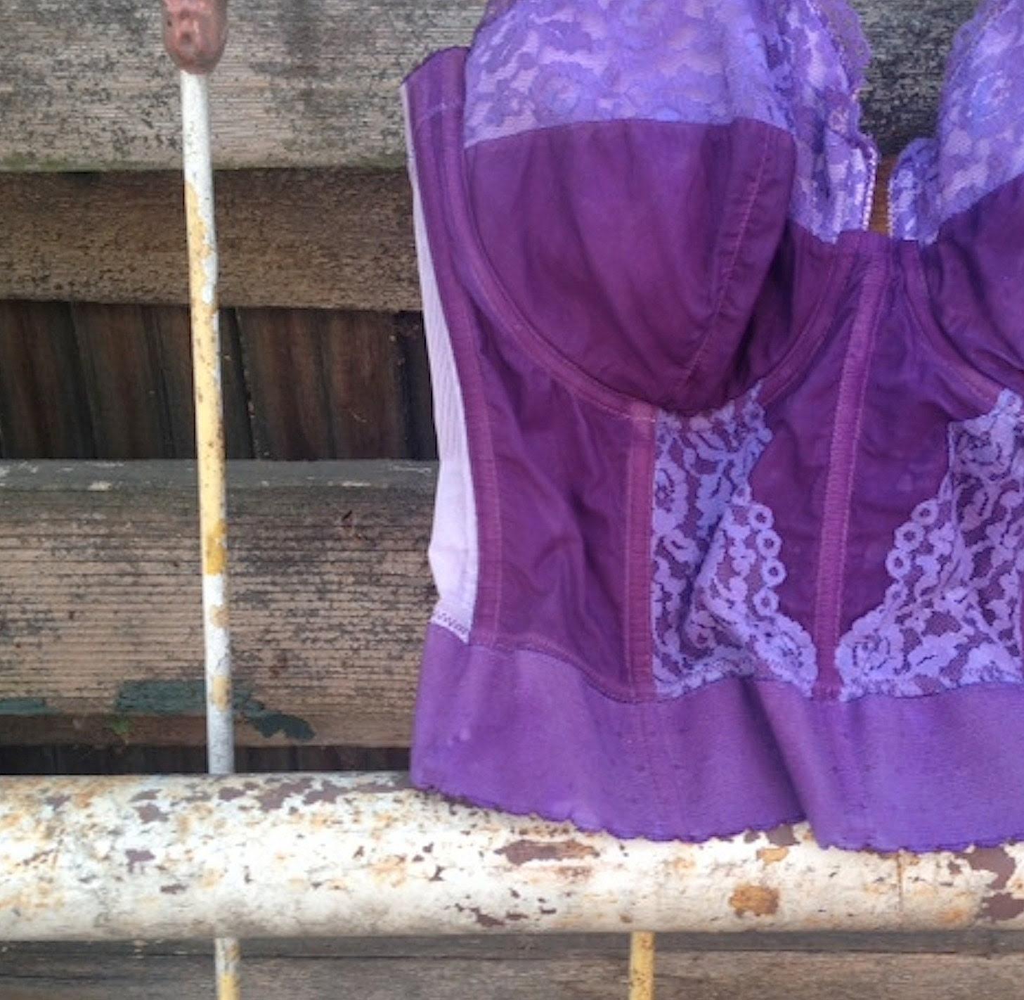 radiant orchid vintage lilac purple corset bustier valentine lover photo stylist decor boho anthropologie style bra shabby rustic lingerie - kateblossom