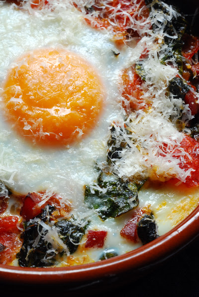Baked Eggs with Cavolo Nero