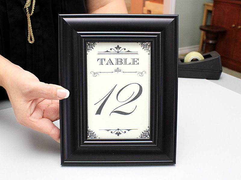 15 Minute Diy Wedding Table Numbers