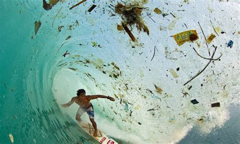 Surf's up  and it's filled full of rubbish! Shocking
