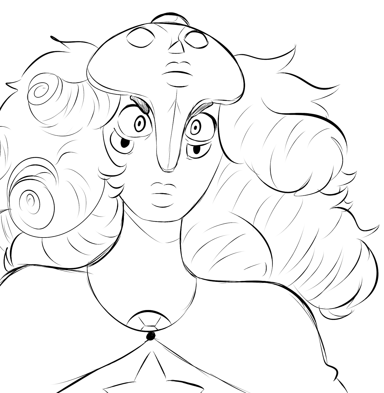 honestly I just wanted an excuse to draw YD with long hair lmao it's prolly just a pixie or smth