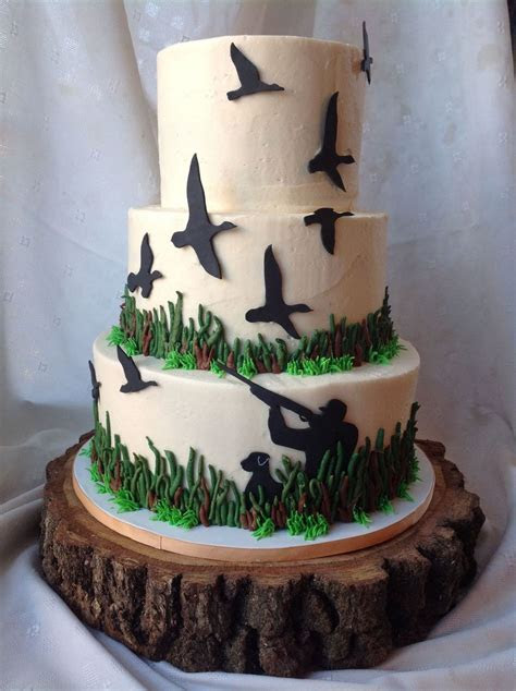 Duck Hunting Groom's Cake   CakeCentral.com