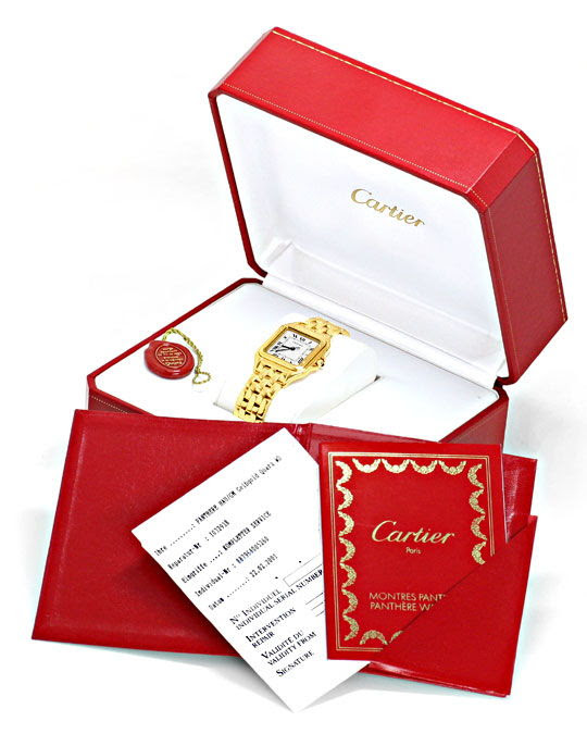 Original-Foto 6, CARTIER PANTHERE GELB-GOLD HERRENUHR