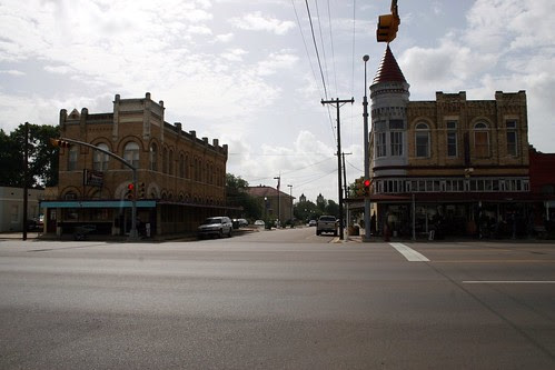 intersection of north esplanade and east church streets, cuero