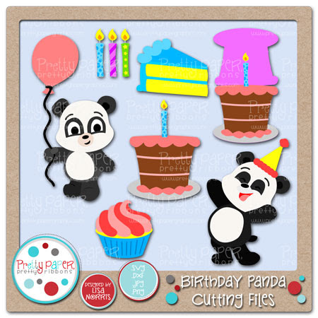 Birthday Panda Cutting Files