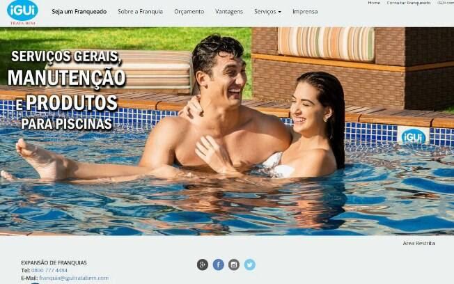 A Trata Bem é uma microfranquia da iGUi, especializada em manutenção de piscinas em geral e vendas de produtos químicos; há opção home based - Valor de investimento de R$ 10,9 mil até R$ 20 mil. Foto: Divulgação