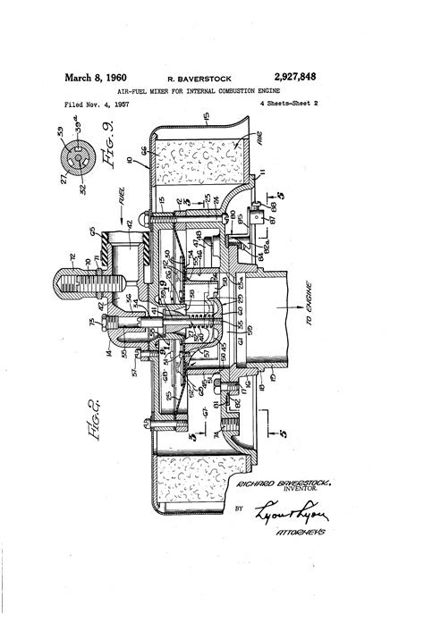 Patent US2927848 - Air-fuel mixer for internal combustion