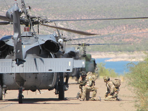 Air Force HH-60 and Pararescue specialists by CharlesRay2010