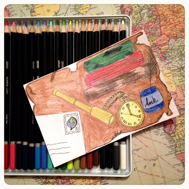 Day 1: distance I decided to recreate this one with something different. Distance a letter travels, distance you can see with a telescope, distance vintage and new items travel to reach is, the distance we search for hidden treadures