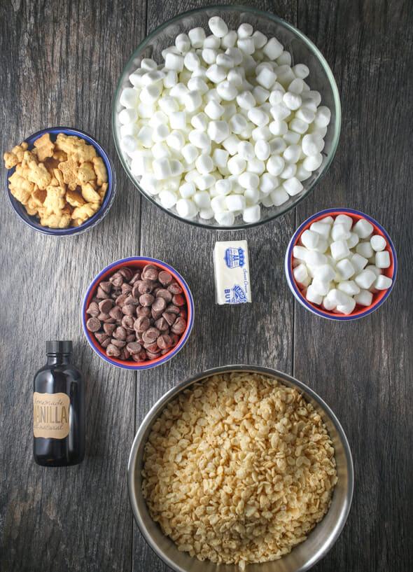 S'mores Rice Krispie Treats - Our Best Bites