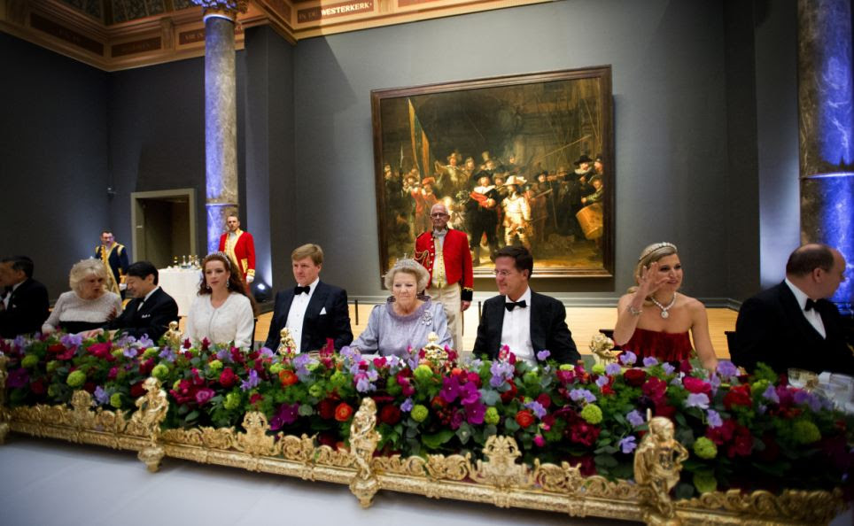Last dinner: Queen Beatrix Of The Netherlands hosts a Gala Dinner ahead of her abdication
