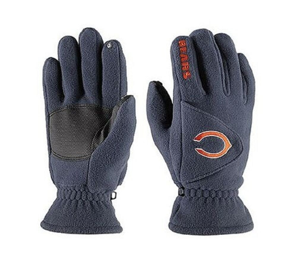 NFL Chicago Bears 180 039 s Reebok Winter Fleece Gloves w Exhale Heating™ eBay