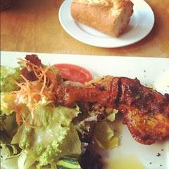 #lunch tandoori chicken plate @ café tous les jours #osaka #japan