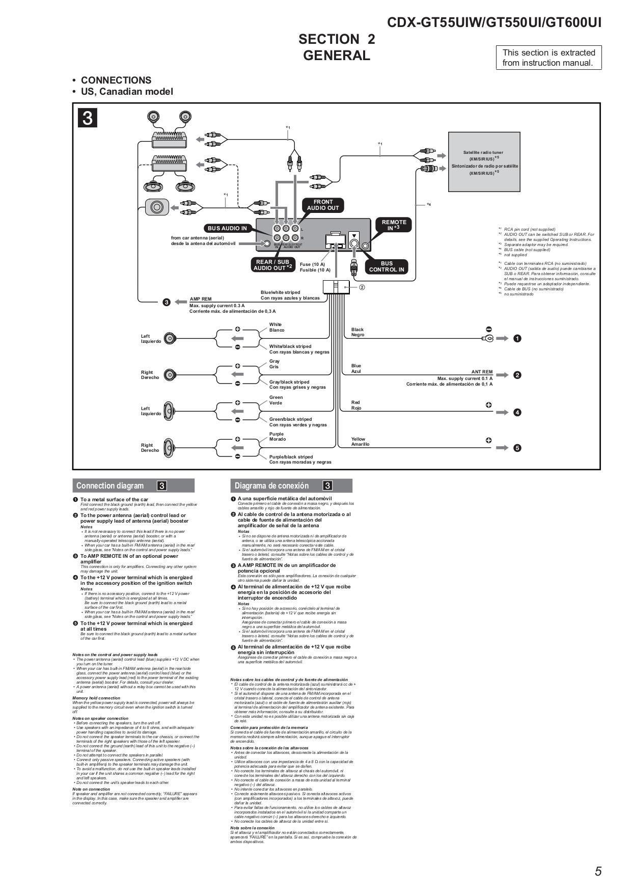 32 Sony Xplod 52wx4 Wiring Diagram