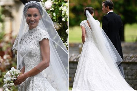 Pippa Middleton stuns in custom made wedding gown