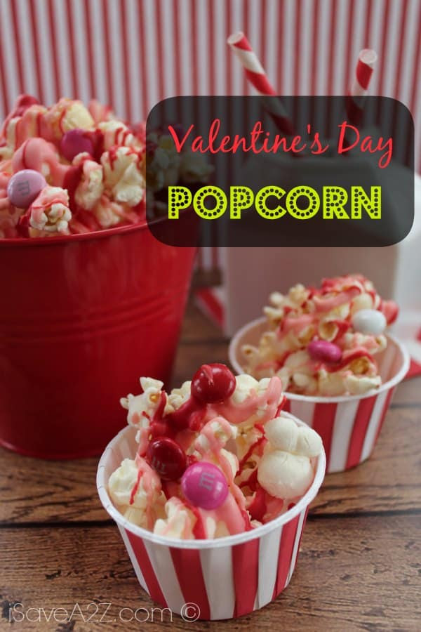 Easy Valentine's Day Popcorn Recipe - iSaveA2Z.com