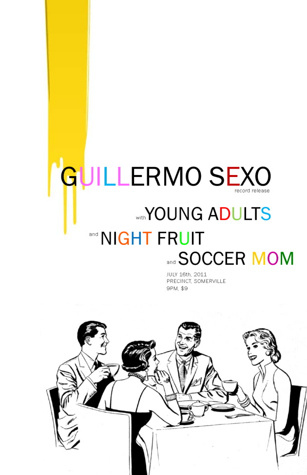 Guillermo Sexo record release show for Secret Wild, with Soccer Mom, Young Adults