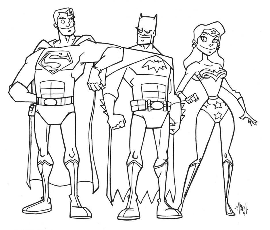Liga De La Justicia Para Colorear Pintar E Imprimir