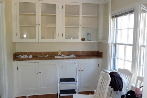 The built in cabinet