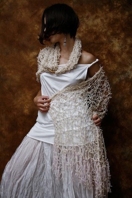 Ivory Shawl Wrap