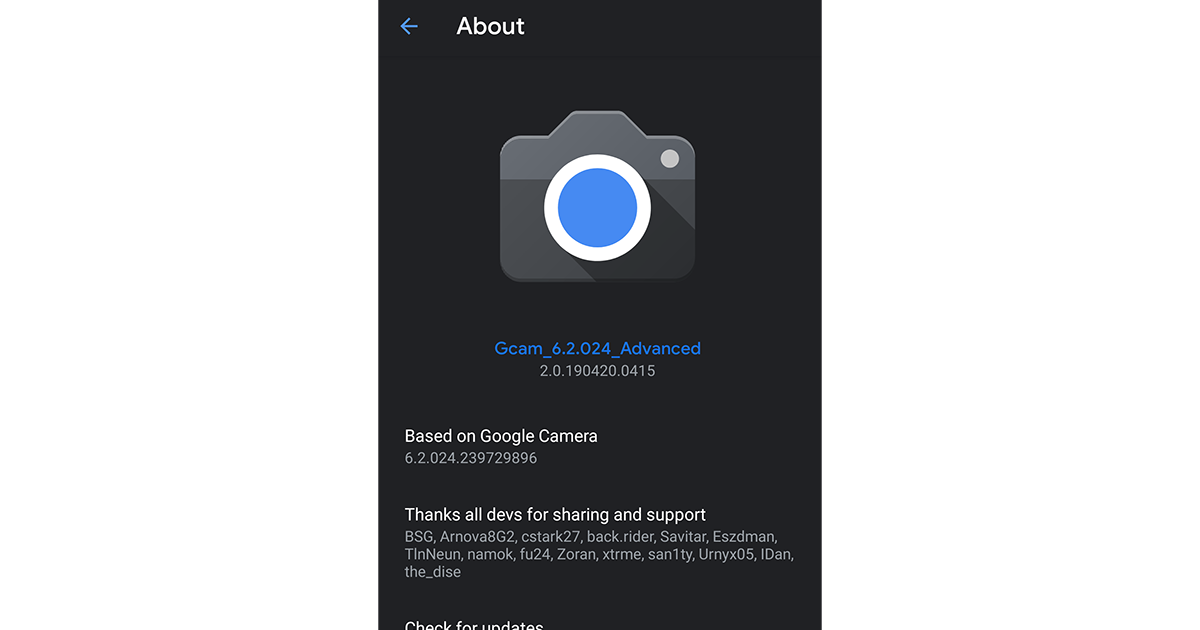 Google Camera 6 2 mod adds 2 4/1 5f aperture switching support for
