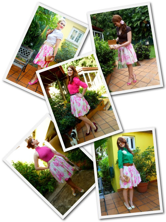 Floral skirt remix by The Joy of Fashion (2)