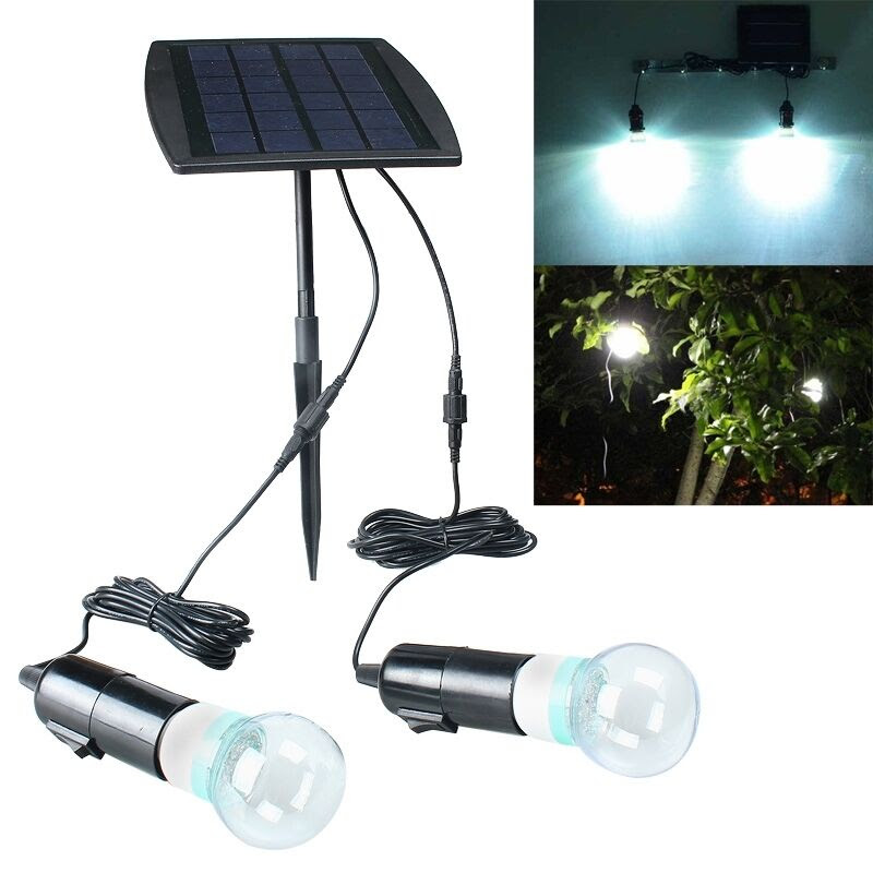 Outdoor/Indoor Solar Power 3V 40 LEDs Bulb Lamp Garden Fence Rechargeable Light  eBay