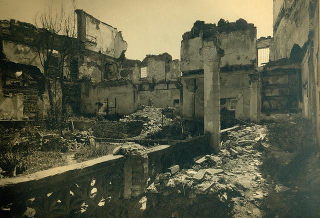 Convento de San Juan de la Penitencia destruido en la Guerra Civil. Fotografía de Pelayo Mas Castañeda. Causa de los mártires de la persecución religiosa en Toledo