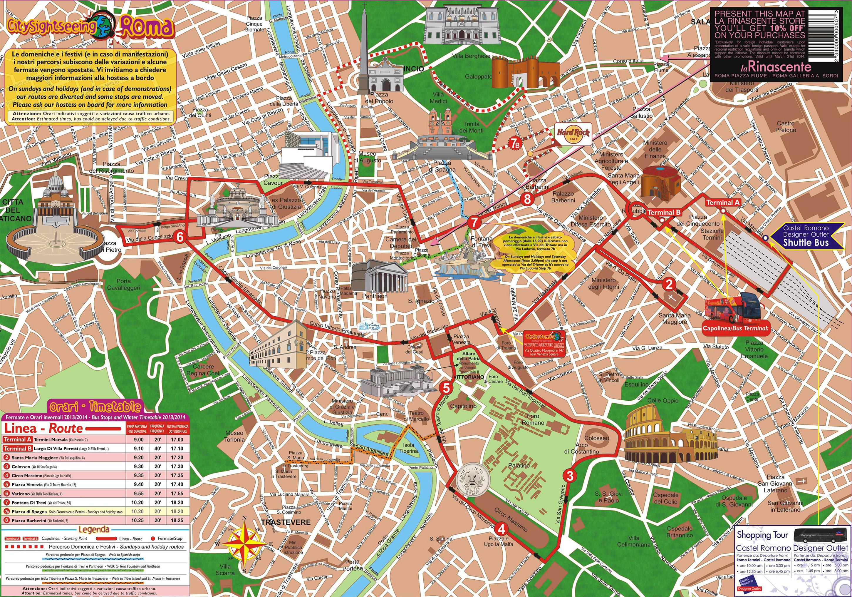 Plan De Rome Vacances Arts Guides Voyages