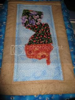 New Jersey - a miniature quilt in cloth!
