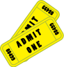 Movie or concert tickets symbol