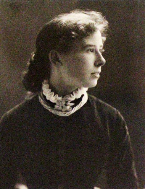 Kate Field,  photographed on the occasion of his engagement to JCH Balmain in 1883