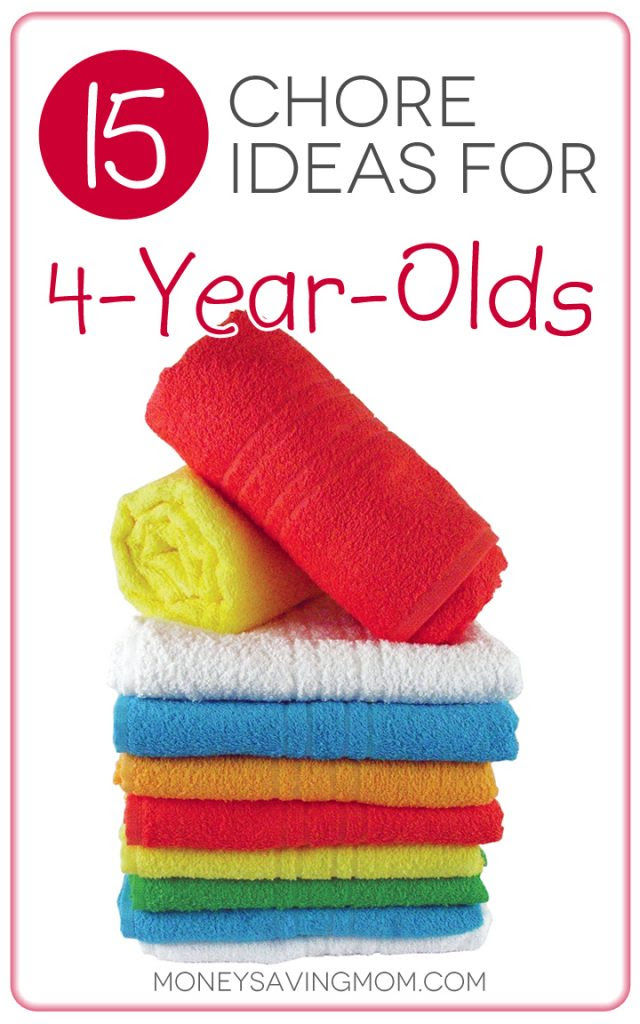 Chore Ideas for 4-Year-Olds
