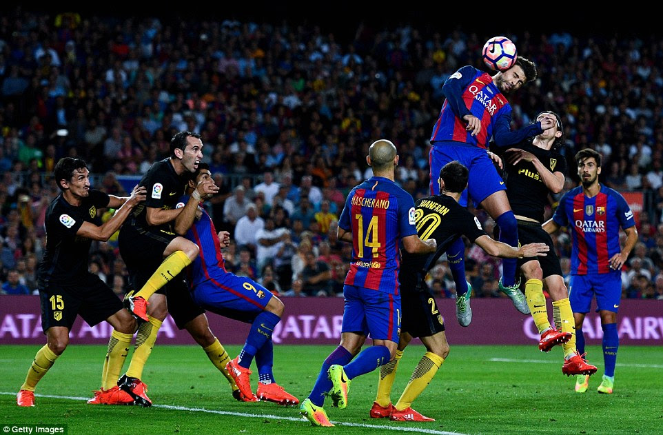 Gerard Pique went close with a late header for Barcelona but there was to be no third goal between the two sides