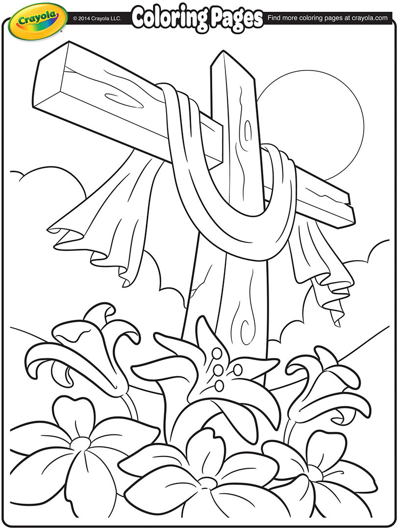 Easter Cross Coloring Page  crayola.com