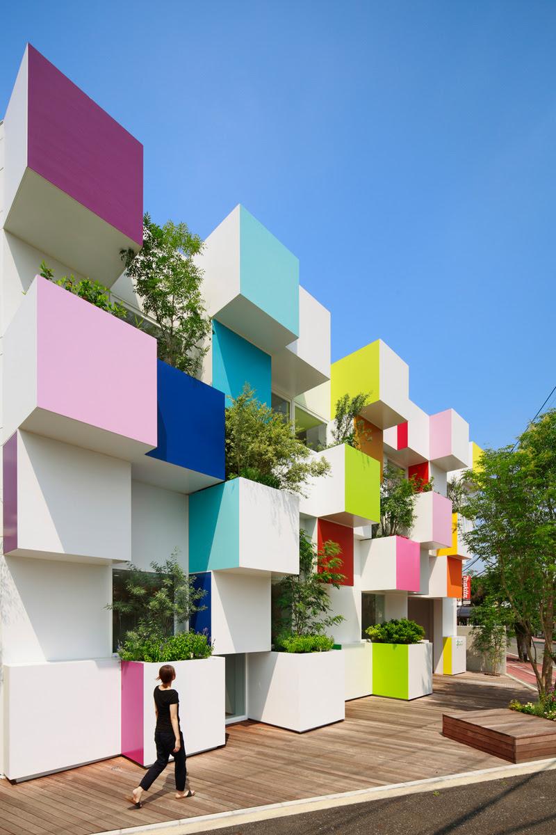 Colourful Bank By Emmanuelle Moreaux