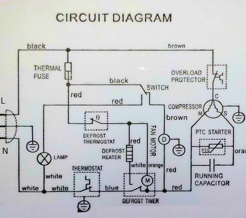Refrigerator Wiring Diagram Repair, Whirlpool Refrigerator Compressor Wiring Diagram