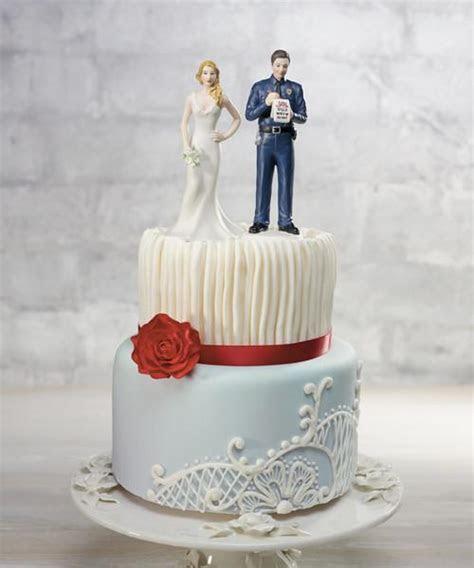 Police Officer Groom Wedding Cake Top ? Candy Cake Weddings