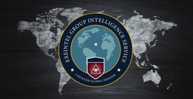 Una de las imágenes corporativas del Group Intelligence Service (EGIS) que se identifica como EXEINTEL.