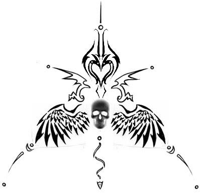 invert tatto - flower tattoo