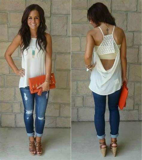 Best 25  Distressed jeans outfit ideas on Pinterest