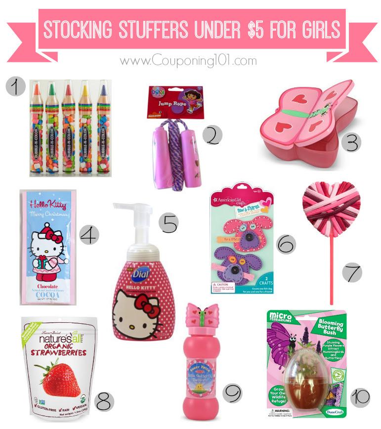 10 Stocking Stuffer Ideas For Girls For 5 Or Less