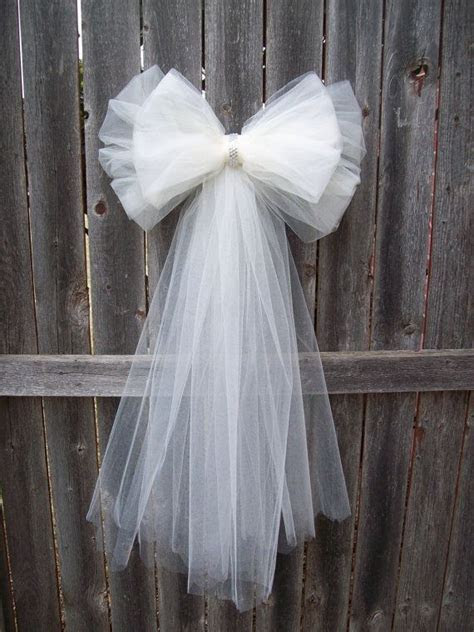 Tulle Pew Bow, OVER 20 COLORS, Tulle, Church Pew Decor