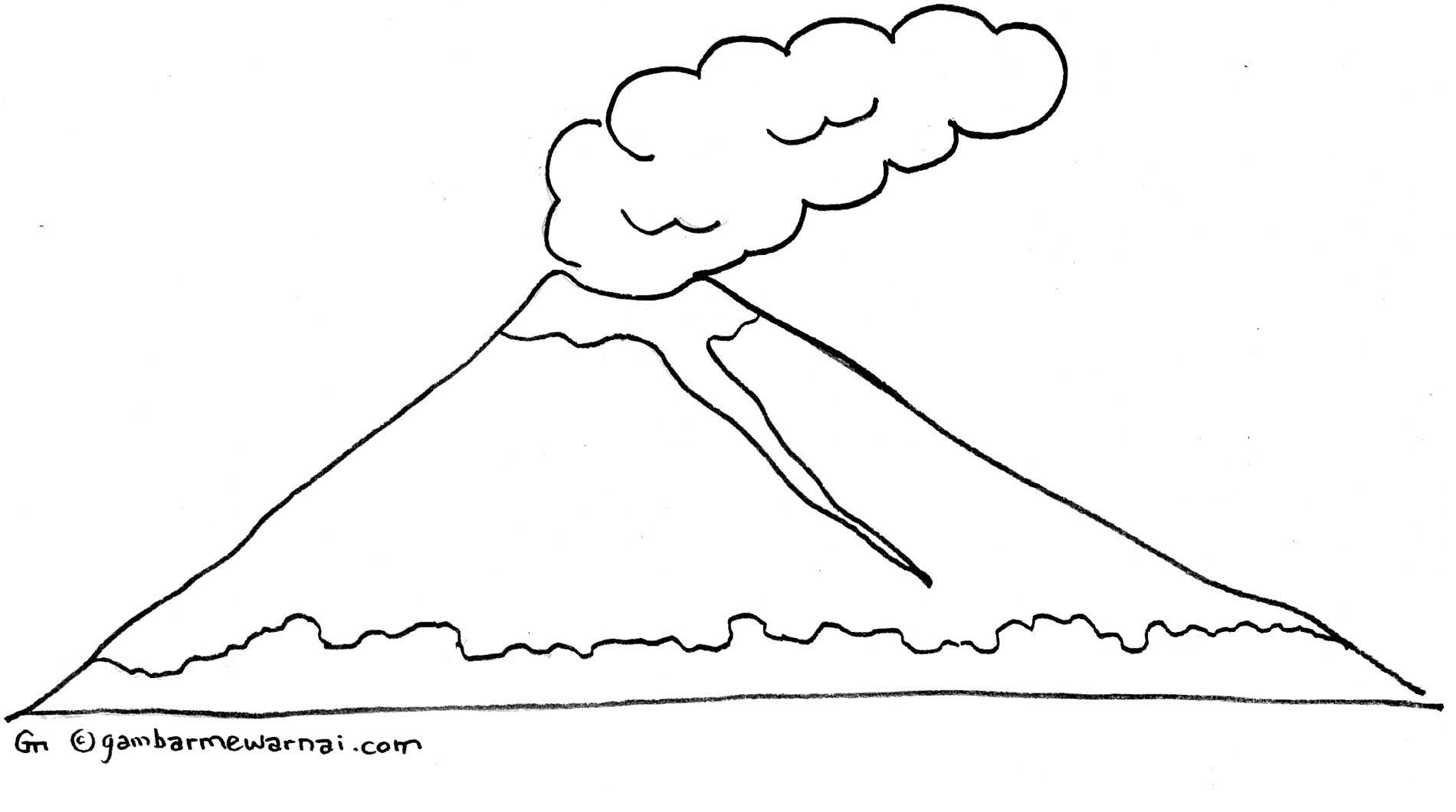 Gunung Colouring Pages