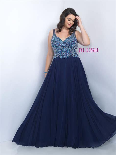 Blush W Plus size Prom 11058W Blush TOO Plus size Prom