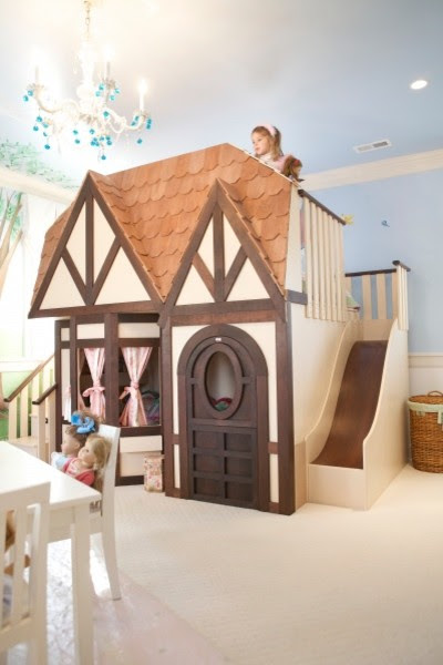 Girls Princess Castle Loft Bed - Eclectic - Kids Beds - by Sweet ...