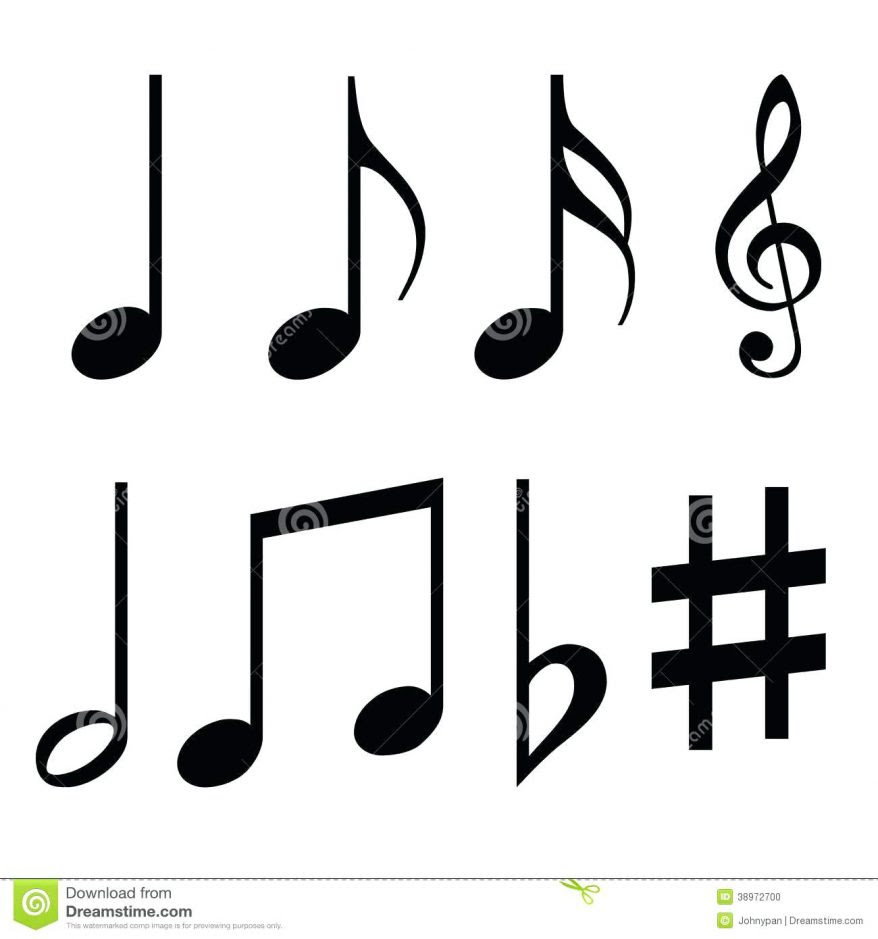 Music Note Coloring Pages | Free download on ClipArtMag
