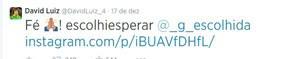 David Luiz mostra apoio a campanha 'Escolhi Esperar' no Twitter (Foto: Reprodução/Twitter)